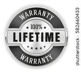 silver lifetime warranty badge  ... | Shutterstock .eps vector #582660433