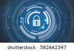 technology security concept.... | Shutterstock .eps vector #582662347