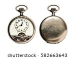 rare pocket watch isolated on... | Shutterstock . vector #582663643