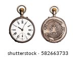 antique pocket watch isolated... | Shutterstock . vector #582663733