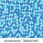 rhombus blue pattern. abstract...   Shutterstock .eps vector #582667687
