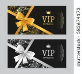 vip invitation and card... | Shutterstock .eps vector #582674173