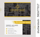 business card for real estate... | Shutterstock .eps vector #582677317