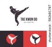 vector taekwondo logo template. ... | Shutterstock .eps vector #582681787