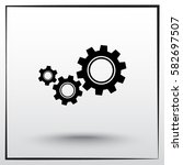 gears sign icon  vector... | Shutterstock .eps vector #582697507