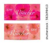 hibiscus flowers background... | Shutterstock .eps vector #582698413