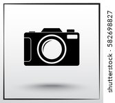 photo camera sign icon  vector... | Shutterstock .eps vector #582698827