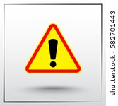 warning attention with... | Shutterstock .eps vector #582701443