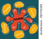 vector hand written info... | Shutterstock .eps vector #582702283