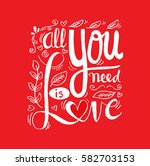 poster with lettering  all you... | Shutterstock .eps vector #582703153