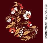 stock vector abstract hand draw ... | Shutterstock .eps vector #582723613