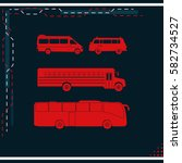 buses icon set. | Shutterstock .eps vector #582734527