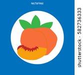 nectarines. icon fruit  symbol  ... | Shutterstock .eps vector #582736333