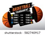 vector of basketball match with ... | Shutterstock .eps vector #582740917