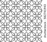 floral line seamless pattern.... | Shutterstock .eps vector #582741943