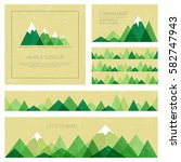 mountains in geometric style....   Shutterstock .eps vector #582747943