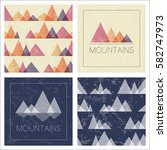 mountains in geometric style.... | Shutterstock .eps vector #582747973