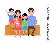 vector illustration cartoon... | Shutterstock .eps vector #582749923