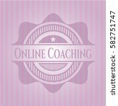 online coaching badge with pink ... | Shutterstock .eps vector #582751747