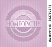homeopathy badge with pink... | Shutterstock .eps vector #582751873