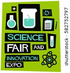 science fair and innovation... | Shutterstock .eps vector #582752797