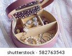 vintage romantic jewelery | Shutterstock . vector #582763543