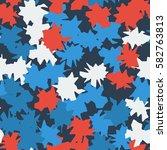 seamless pattern. ragged spots. ... | Shutterstock .eps vector #582763813