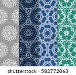 set of geometric seamless... | Shutterstock .eps vector #582772063