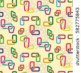 endless abstract pattern.... | Shutterstock .eps vector #582775843