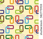 endless abstract pattern.... | Shutterstock .eps vector #582775933