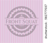 front squat badge with pink... | Shutterstock .eps vector #582777037