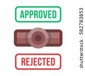 rejected and approved rubber... | Shutterstock .eps vector #582783853