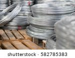 rolled wire production in... | Shutterstock . vector #582785383