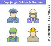 occupations colorful avatar set ... | Shutterstock .eps vector #582786733