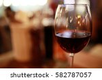 alcohol in a glass | Shutterstock . vector #582787057
