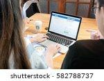 bangkok  thailand   february 19 ... | Shutterstock . vector #582788737