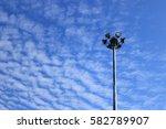 Small photo of spotlight on altocumulus cloud