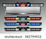 scoreboard broadcast graphic...   Shutterstock .eps vector #582794923