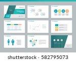 presentation background design... | Shutterstock .eps vector #582795073