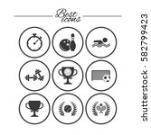 sport games  fitness icons.... | Shutterstock .eps vector #582799423