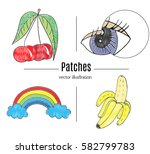patch badges  embroidery with... | Shutterstock .eps vector #582799783