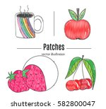 patch badges  embroidery with... | Shutterstock .eps vector #582800047