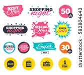 sale shopping banners. special... | Shutterstock .eps vector #582804643
