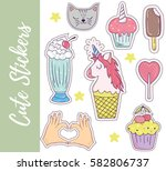 patch  badges  stickers with... | Shutterstock .eps vector #582806737