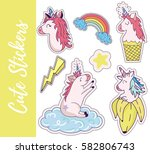 patch  badges  stickers with... | Shutterstock .eps vector #582806743