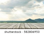 wood old table against...   Shutterstock . vector #582806953