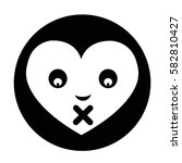 heart face emotion icon | Shutterstock .eps vector #582810427