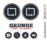 grunge post stamps. repeat icon.... | Shutterstock .eps vector #582811177