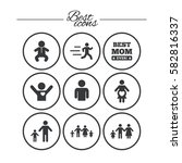 people  family icons. maternity ... | Shutterstock .eps vector #582816337