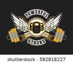 vector sport emblem for the gym ... | Shutterstock .eps vector #582818227